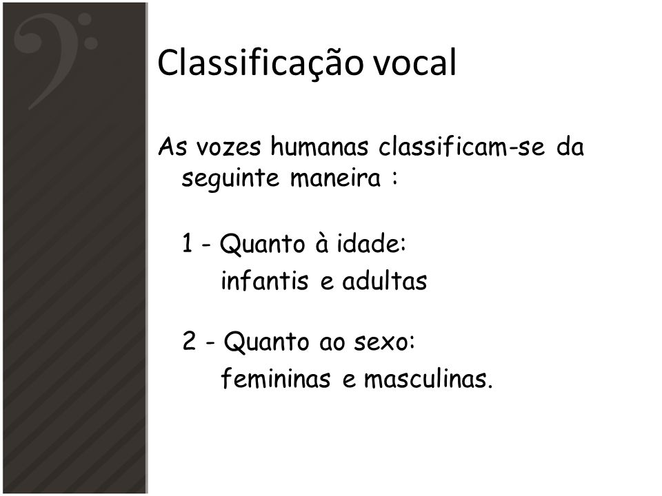 Classificação vocal