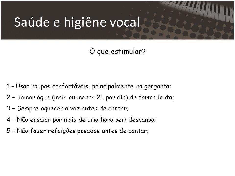 Saúde e higiêne vocal O que estimular