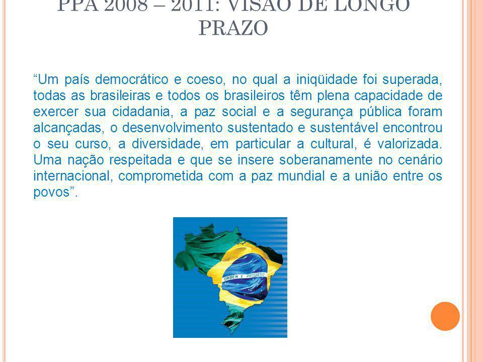 PPA 2008 – 2011: VISÃO DE LONGO PRAZO
