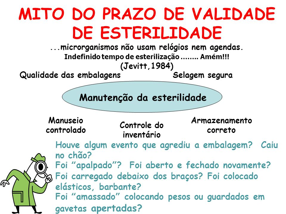 MITO DO PRAZO DE VALIDADE DE ESTERILIDADE