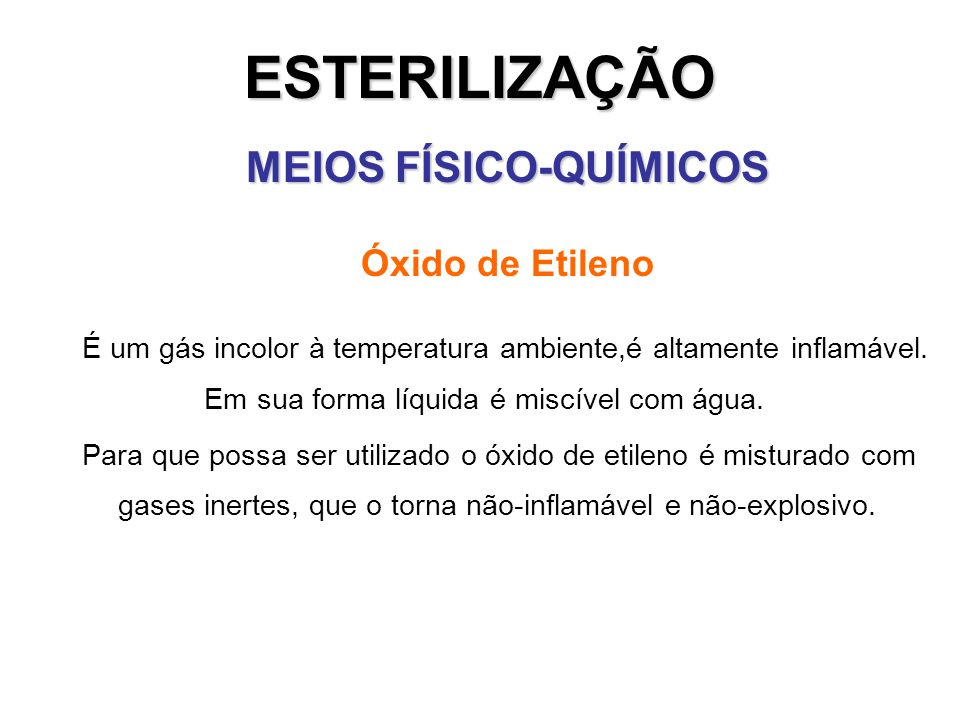 MEIOS FÍSICO-QUÍMICOS