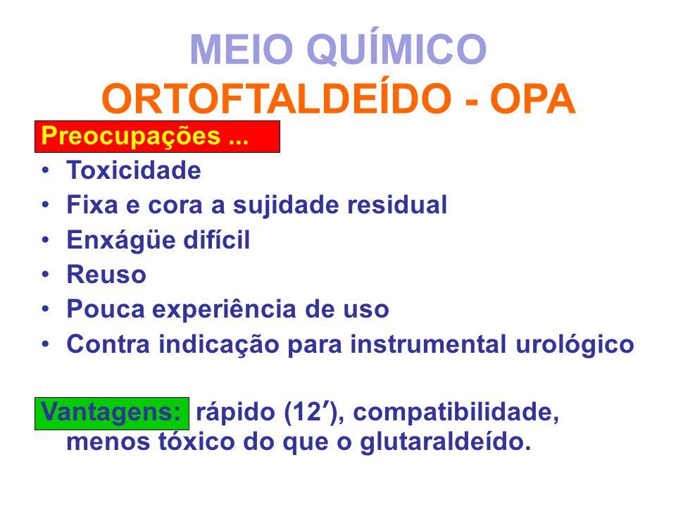 MEIO QUÍMICO ORTOFTALDEÍDO - OPA