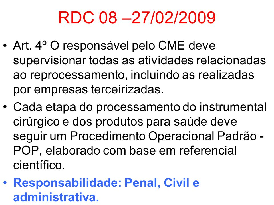 RDC 08 –27/02/2009