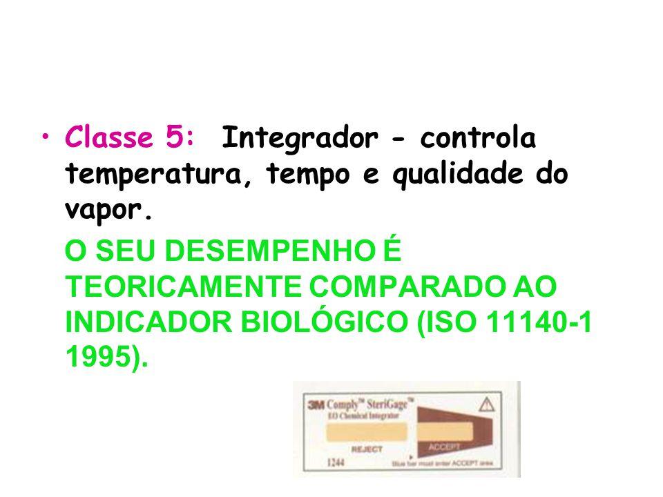 Classe 5: Integrador - controla temperatura, tempo e qualidade do vapor.