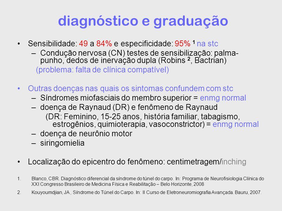 diagnóstico e graduação
