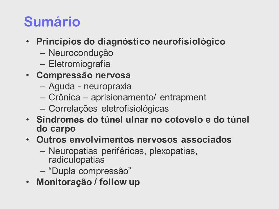 Sumário Princípios do diagnóstico neurofisiológico Neurocondução