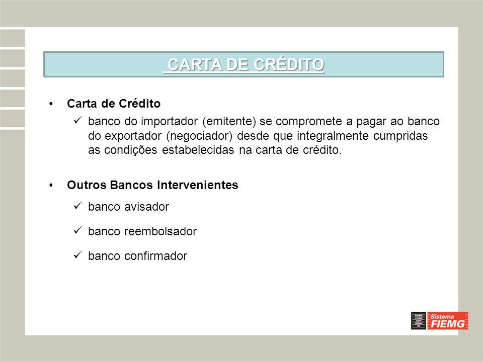 CARTA DE CRÉDITO Carta de Crédito
