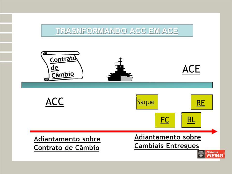 TRASNFORMANDO ACC EM ACE