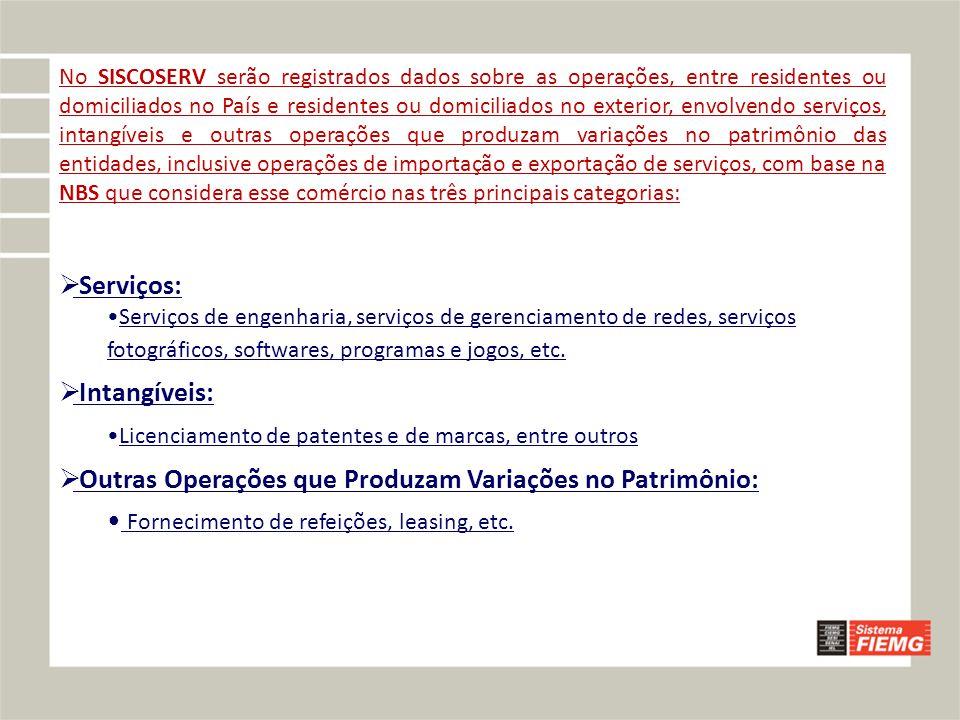 Outras Operações que Produzam Variações no Patrimônio: