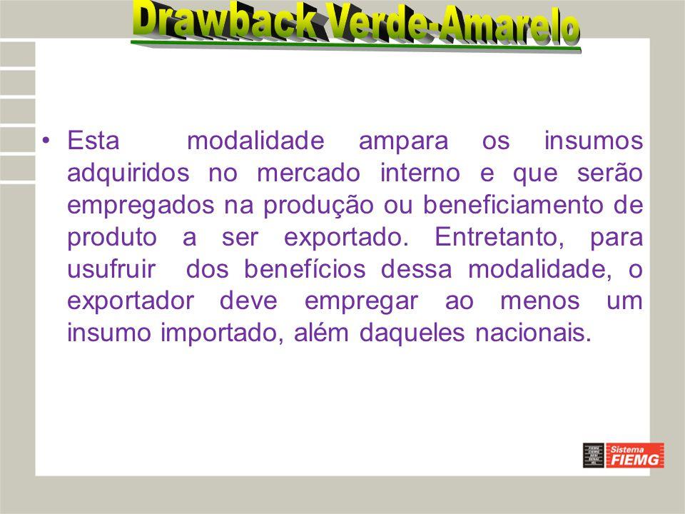 Drawback Verde-Amarelo