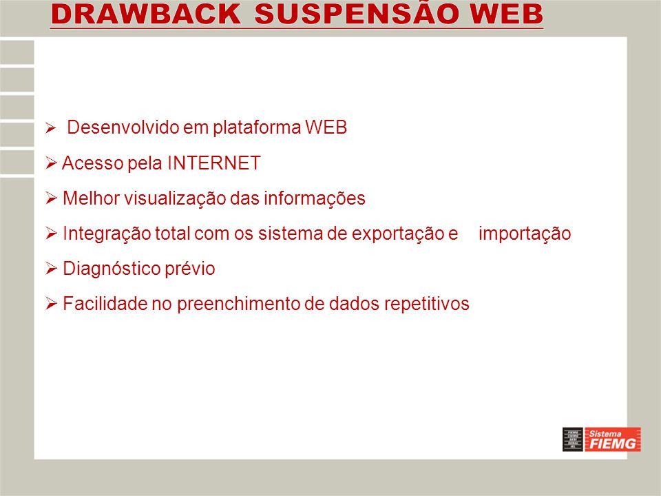 DRAWBACK SUSPENSÃO WEB