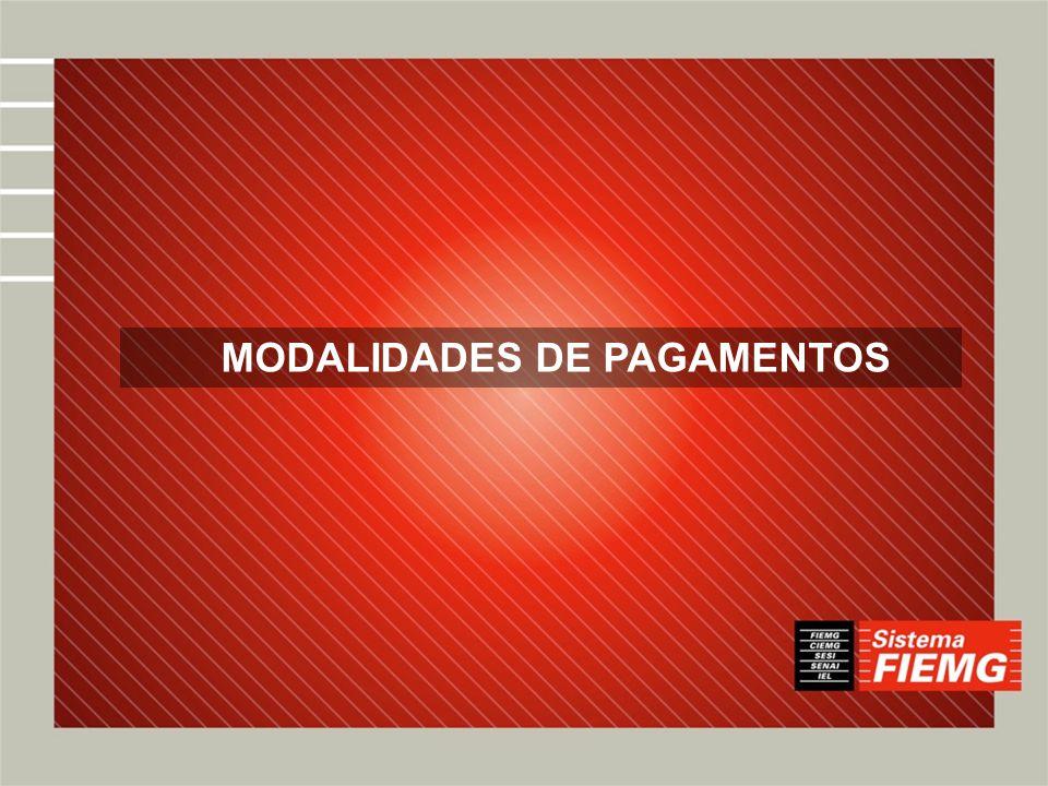 MODALIDADES DE PAGAMENTOS