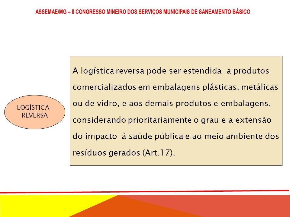 A logística reversa pode ser estendida a produtos