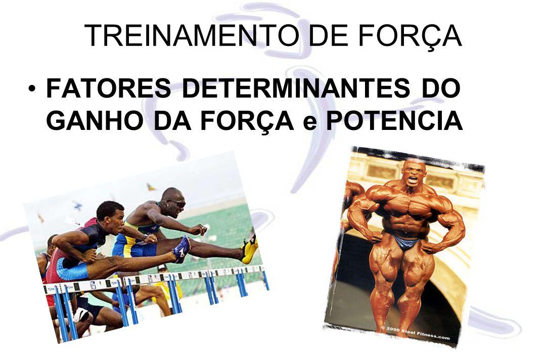 TREINAMENTO DE FORÇA FATORES DETERMINANTES DO GANHO DA FORÇA e POTENCIA
