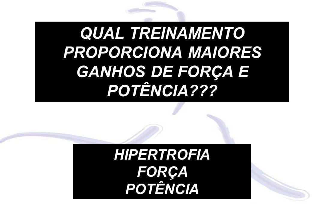 QUAL TREINAMENTO PROPORCIONA MAIORES GANHOS DE FORÇA E POTÊNCIA