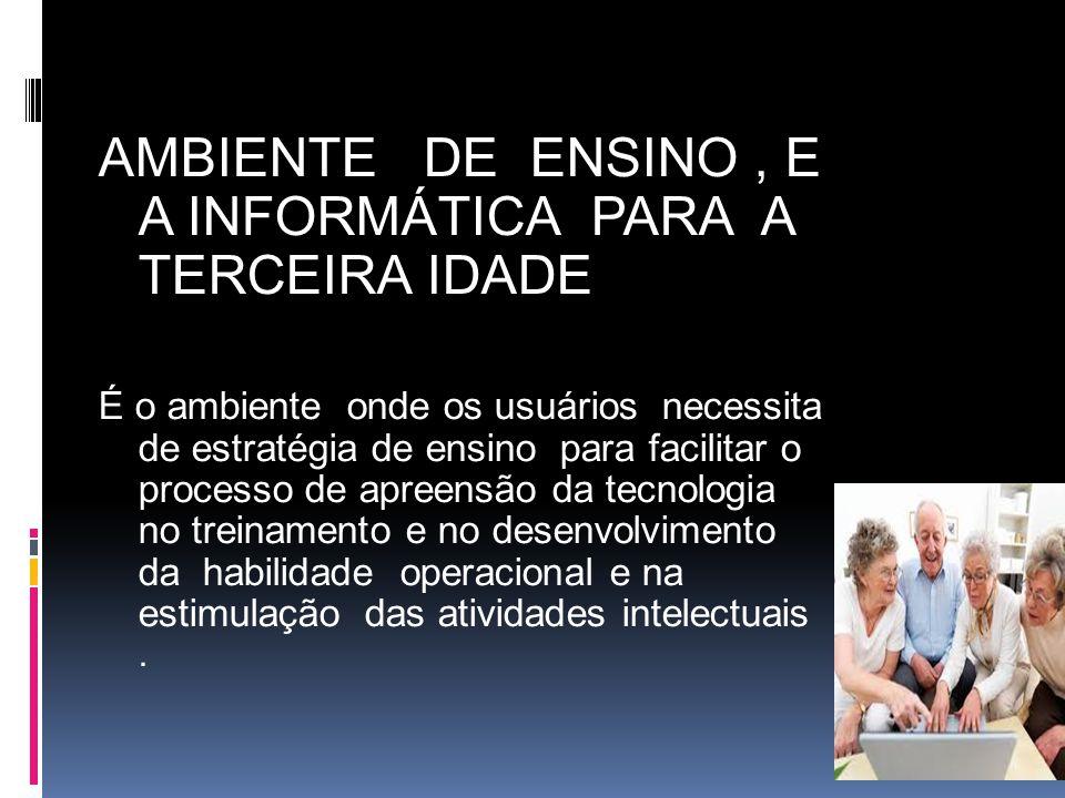 AMBIENTE DE ENSINO , E A INFORMÁTICA PARA A TERCEIRA IDADE