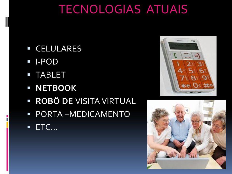 TECNOLOGIAS ATUAIS CELULARES I-POD TABLET NETBOOK