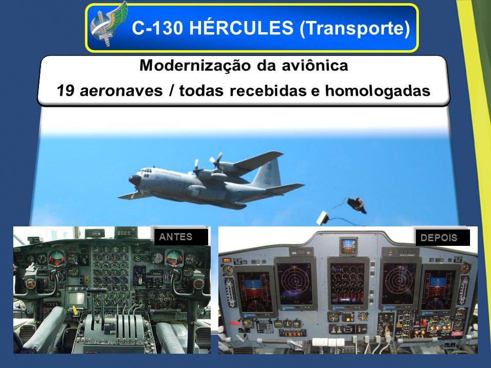 Modernização da aviônica 19 aeronaves / todas recebidas e homologadas