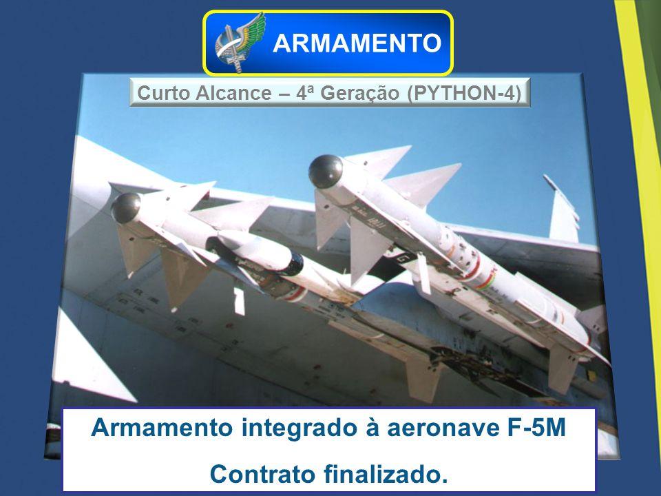 Armamento integrado à aeronave F-5M Contrato finalizado.