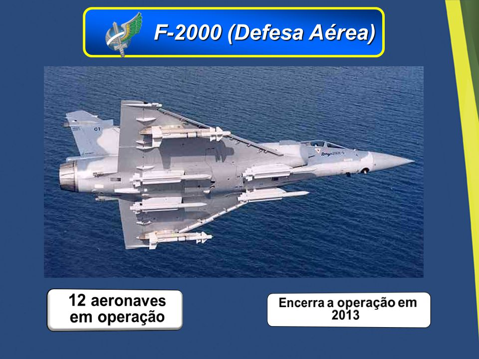 F-2000 (Defesa Aérea) 12 aeronaves em operação