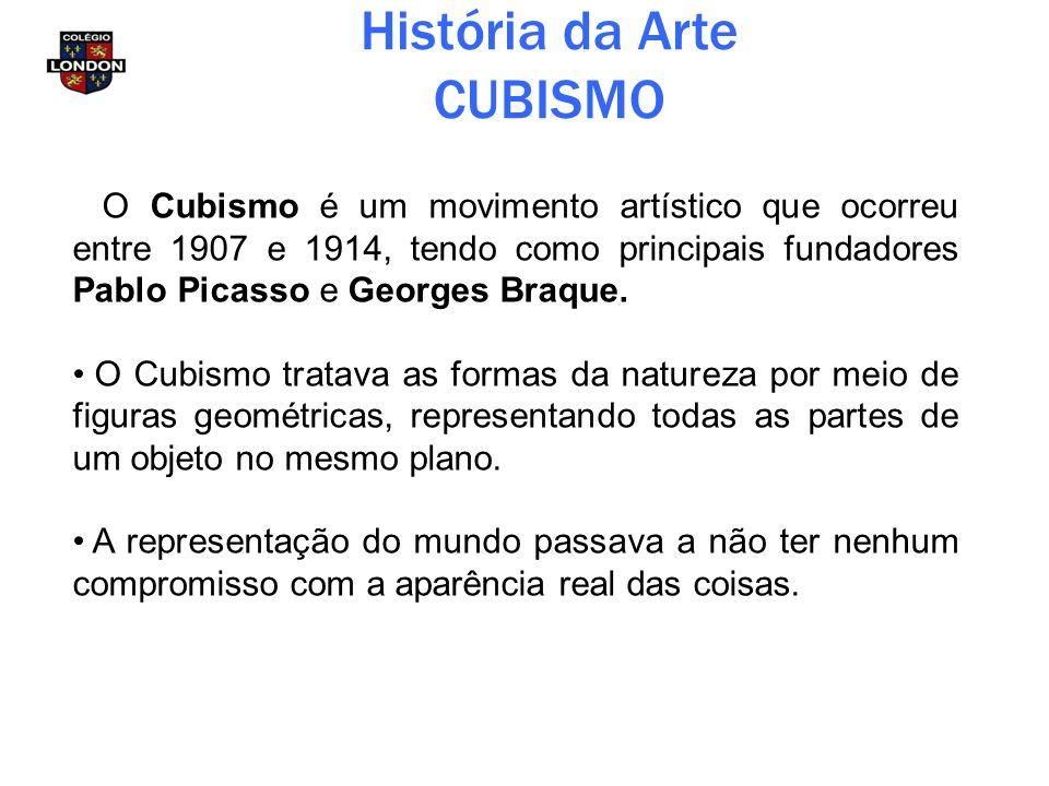 História da Arte CUBISMO