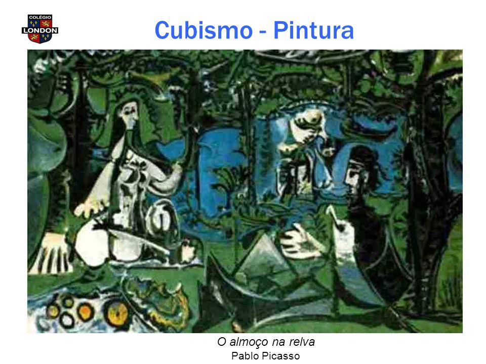 Cubismo - Pintura O almoço na relva Pablo Picasso