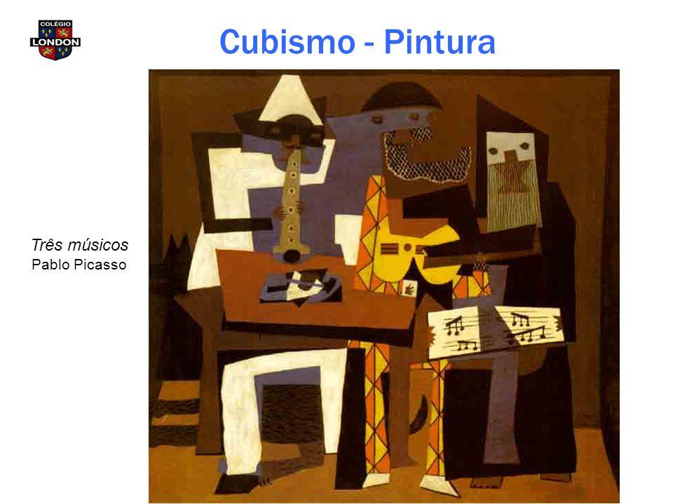 Cubismo - Pintura Três músicos Pablo Picasso