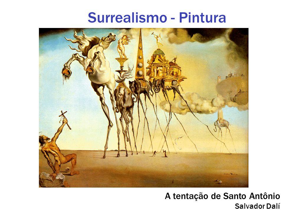Surrealismo - Pintura A tentação de Santo Antônio Salvador Dalí