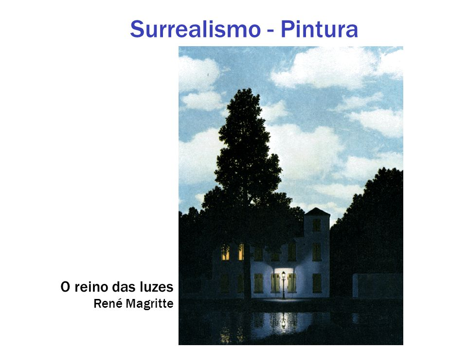 Surrealismo - Pintura O reino das luzes René Magritte