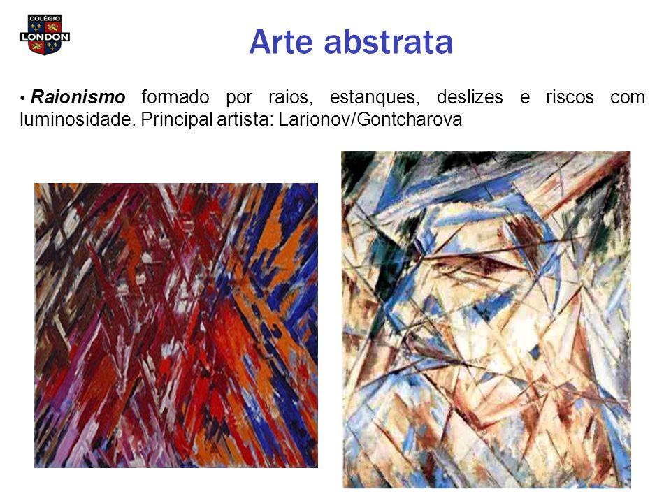Arte abstrata Raionismo formado por raios, estanques, deslizes e riscos com luminosidade.