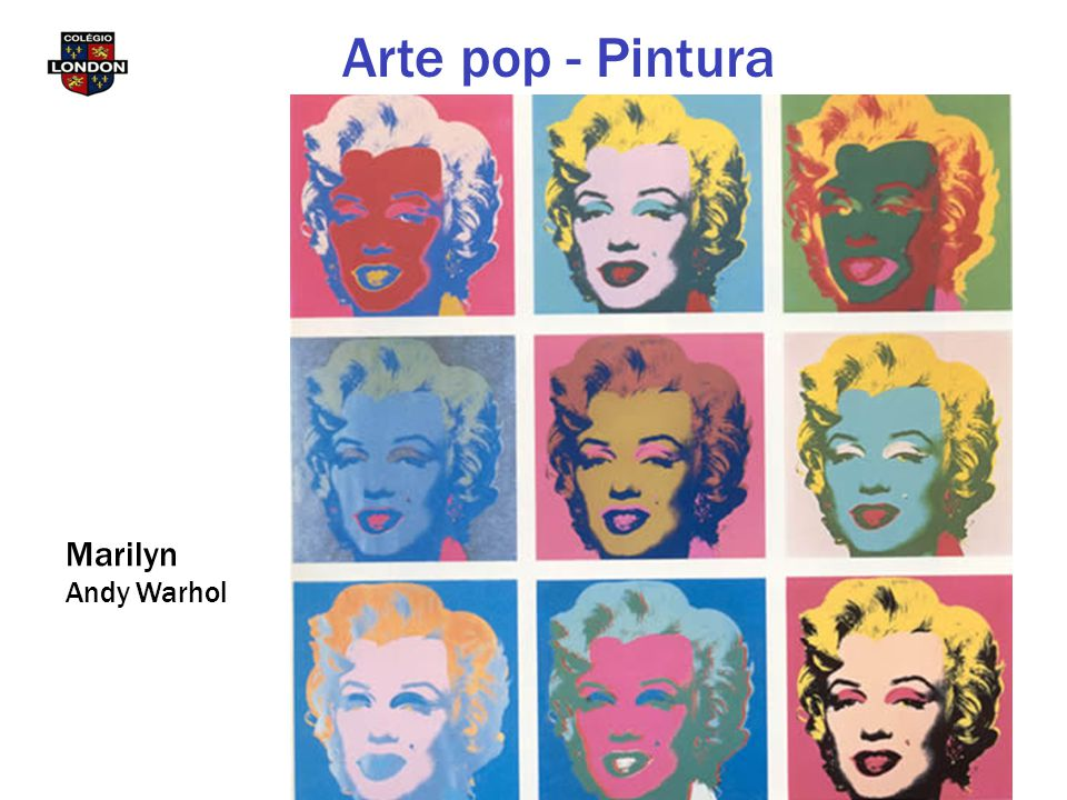 Arte pop - Pintura Marilyn Andy Warhol