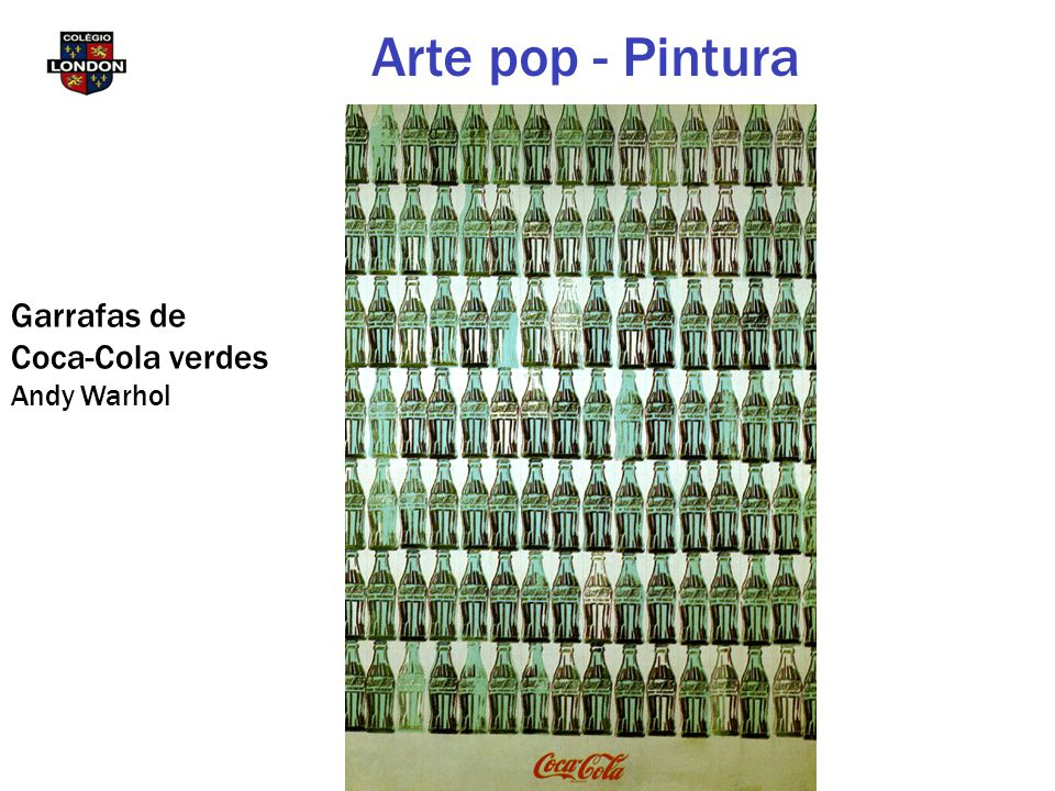 Arte pop - Pintura Garrafas de Coca-Cola verdes Andy Warhol