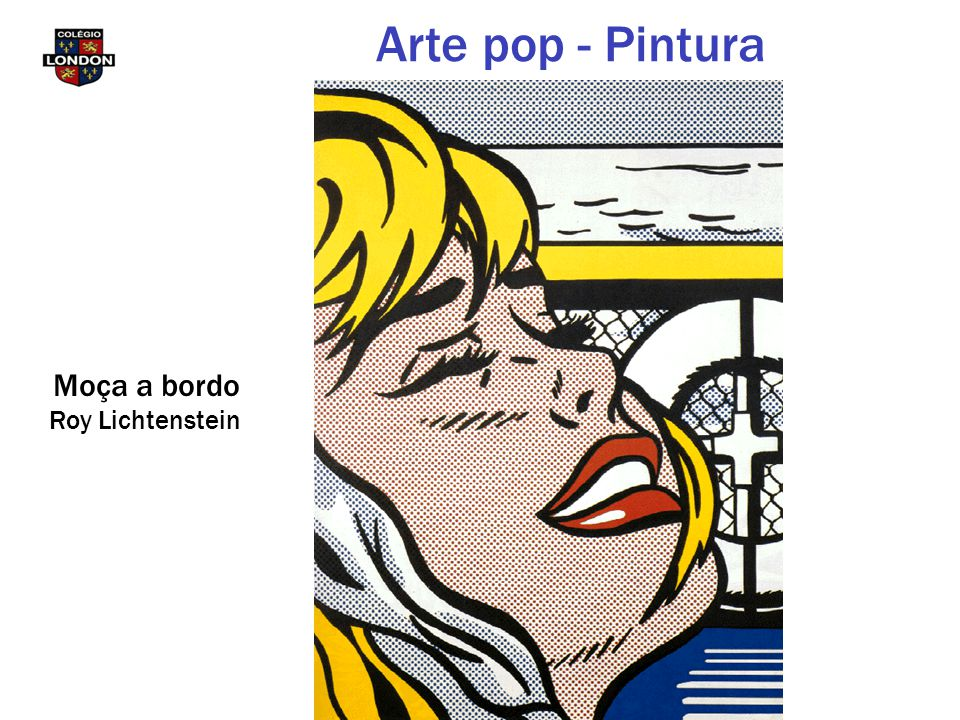 Arte pop - Pintura Moça a bordo Roy Lichtenstein