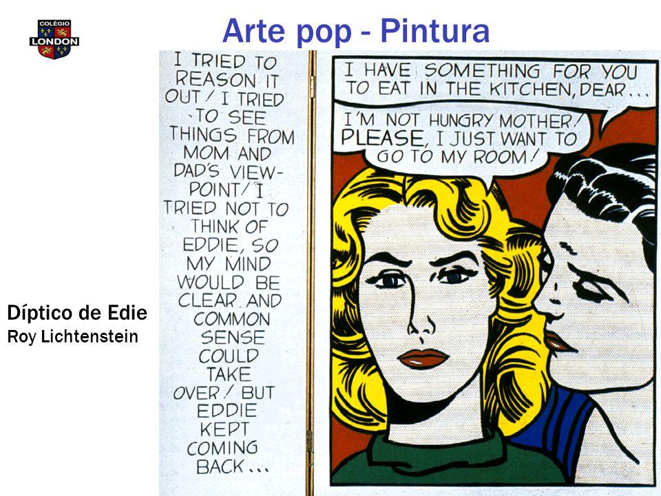 Arte pop - Pintura Díptico de Edie Roy Lichtenstein