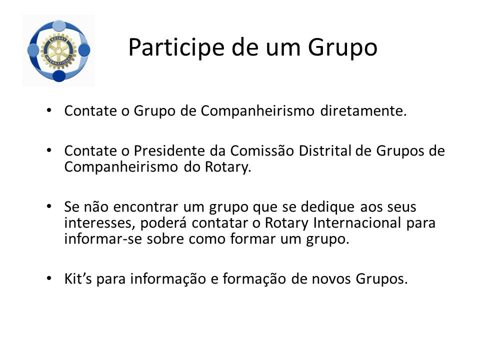 Participe de um Grupo Contate o Grupo de Companheirismo diretamente.