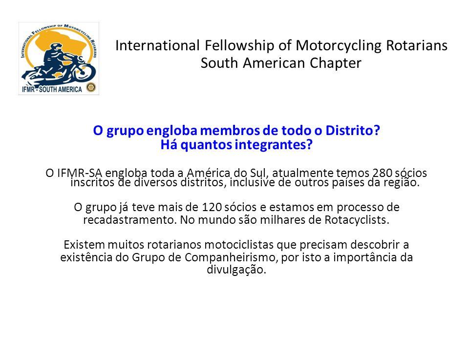 O grupo engloba membros de todo o Distrito Há quantos integrantes