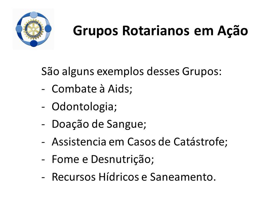 Grupos Rotarianos em Ação
