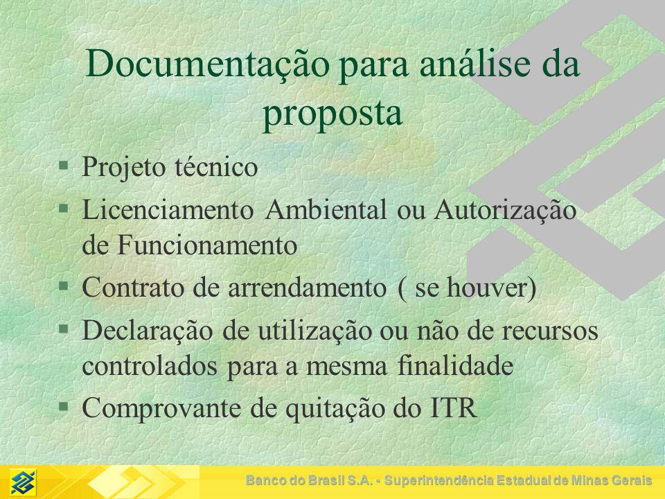 Documentação para análise da proposta