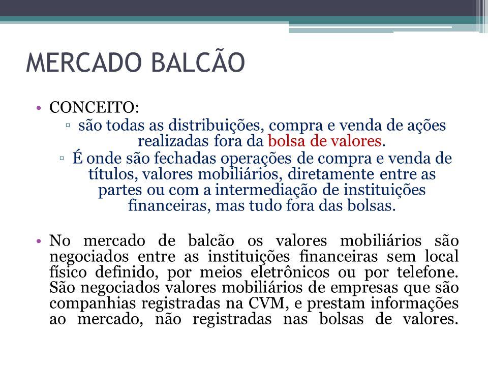 MERCADO BALCÃO CONCEITO: