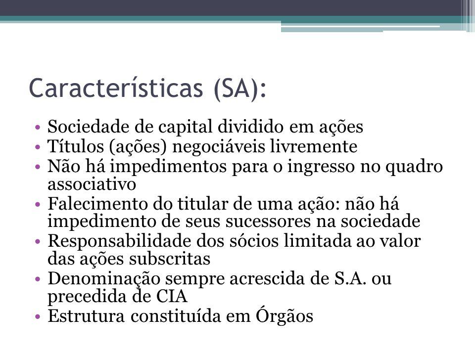 Características (SA):