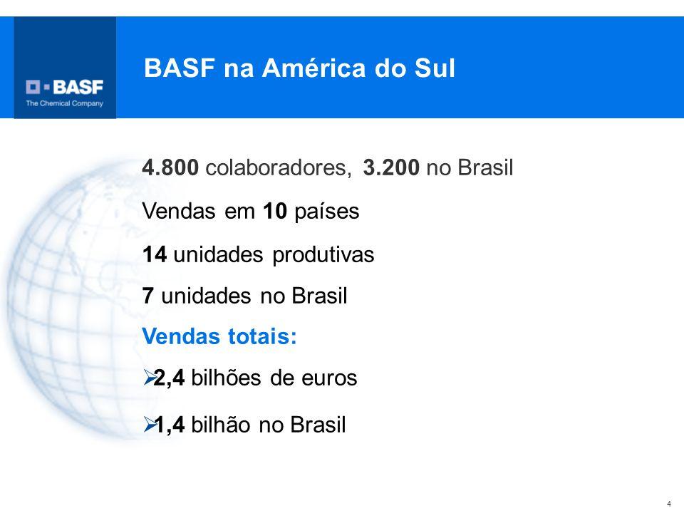 BASF na América do Sul 4.800 colaboradores, 3.200 no Brasil