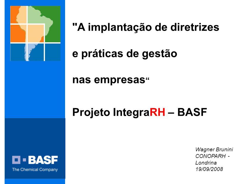 A implantação de diretrizes e práticas de gestão nas empresas