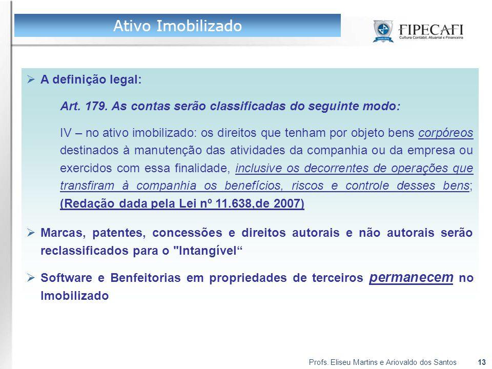 Ativo Imobilizado A definição legal: