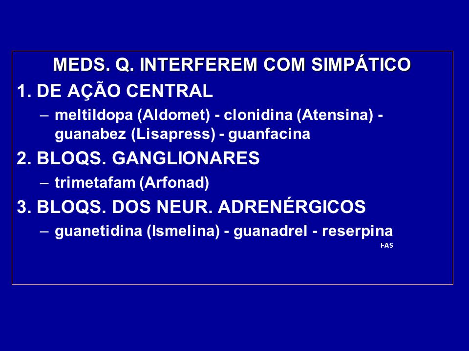 MEDS. Q. INTERFEREM COM SIMPÁTICO