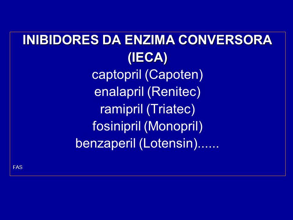 INIBIDORES DA ENZIMA CONVERSORA
