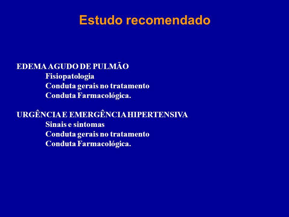 Estudo recomendado EDEMA AGUDO DE PULMÃO Fisiopatologia