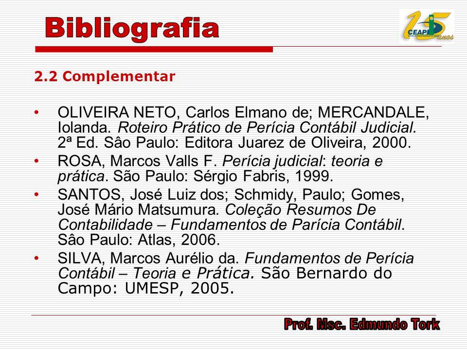 Bibliografia 2.2 Complementar.