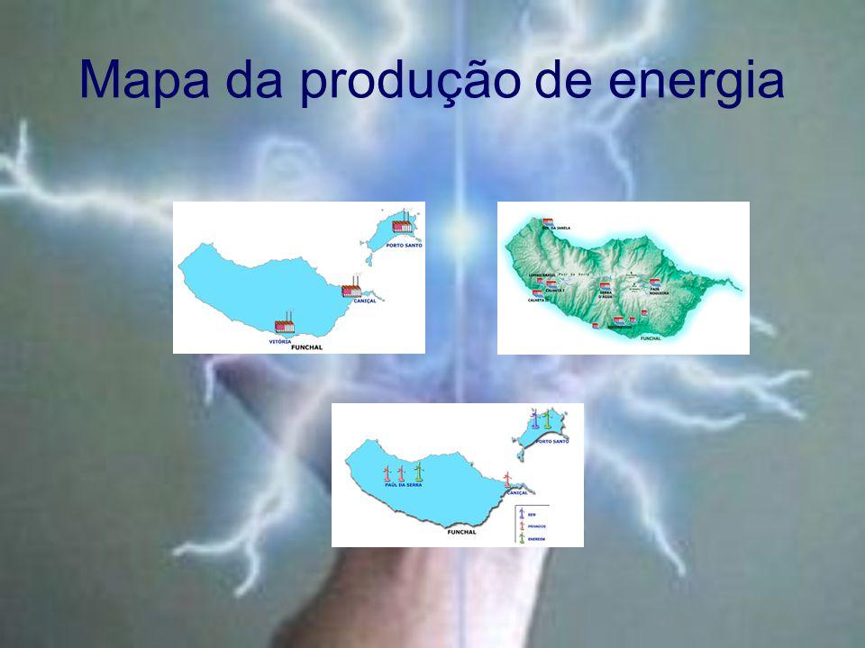 Mapa da produção de energia