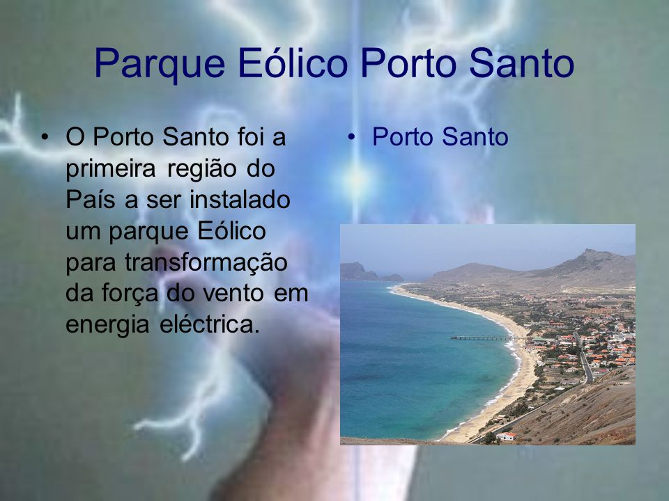 Parque Eólico Porto Santo
