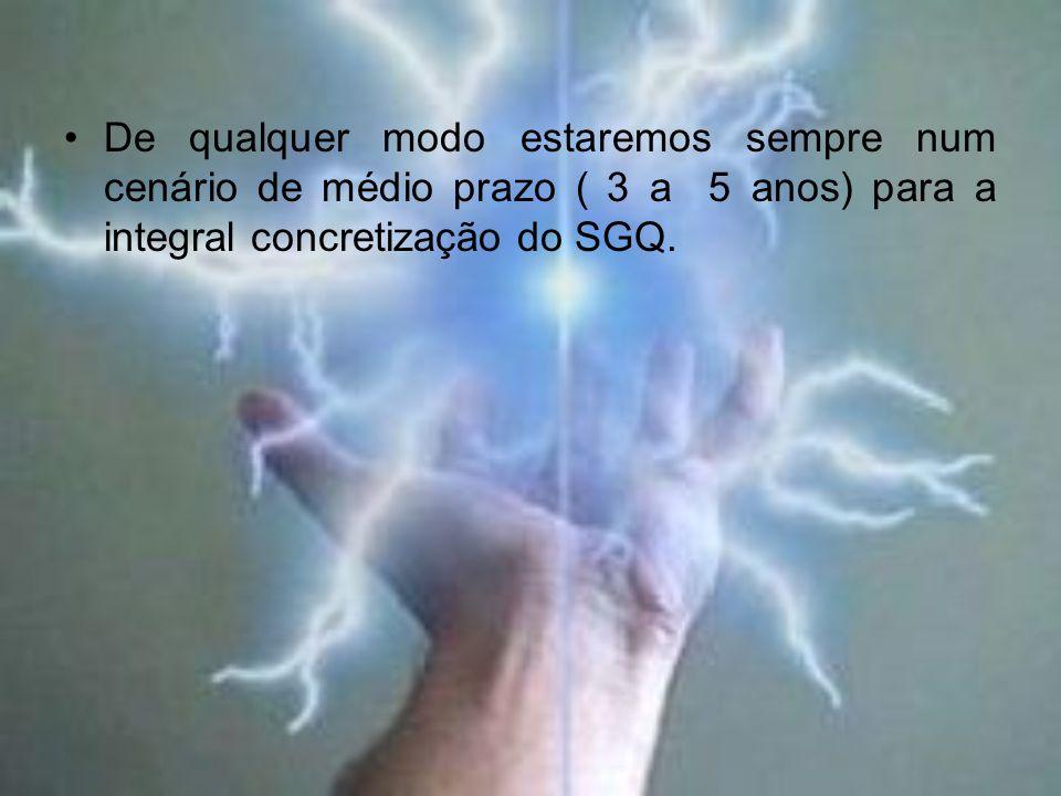 De qualquer modo estaremos sempre num cenário de médio prazo ( 3 a 5 anos) para a integral concretização do SGQ.